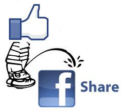 FB Like peeing on FB Share
