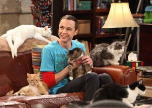 Sheldon from The Big Bang Theory holding Zazzles