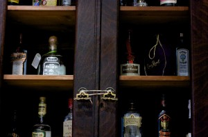 Liquor Cabinet with various Alcohol