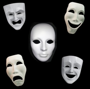 Variety of Theatrical Masks