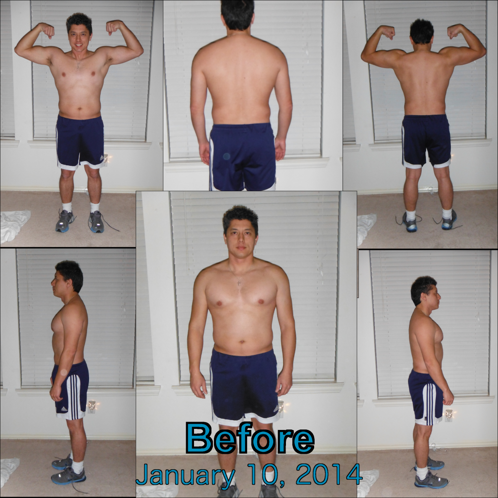 Following the suggestion of the P90X3 program to take before pics to show any progress that is made.